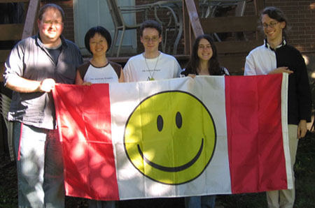 Some of the attendees, with the Imperial flag